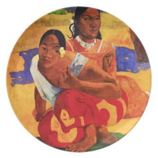 Gauguin cuando es usted que consigue la placa casa plato de cena