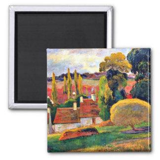 Gauguin: Farm in Brittany 2 Inch Square Magnet