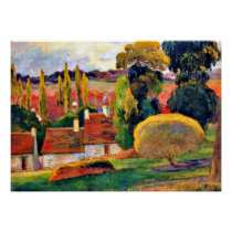 Gauguin: Farm in Brittany Poster