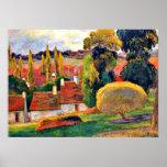 Gauguin: Farm in Brittany Print