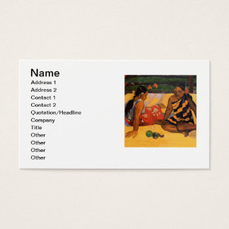 Gauguin French Polynesia Tahiti Women Business Card
