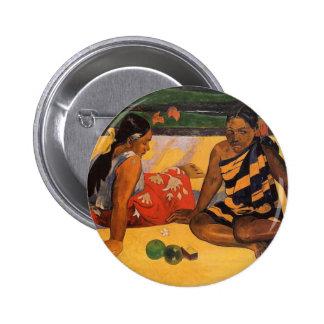 Gauguin French Polynesia Tahiti Women Button