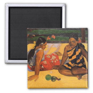 Gauguin French Polynesia Tahiti Women Magnet