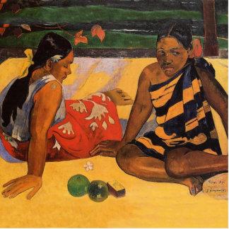 Gauguin French Polynesia Tahiti Women Standing Photo Sculpture