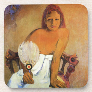 Gauguin Girl With A Fan Coasters