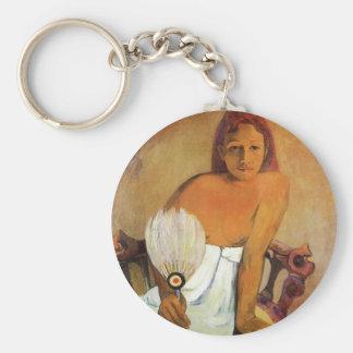 Gauguin Girl With A Fan Key Chain