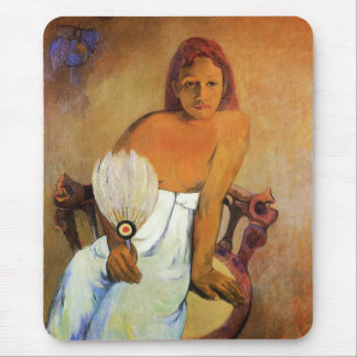 Gauguin Girl With A Fan Mouse Pad