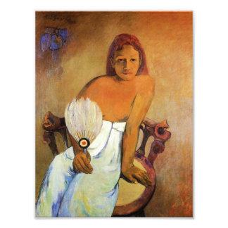 Gauguin Girl With A Fan Photo Print