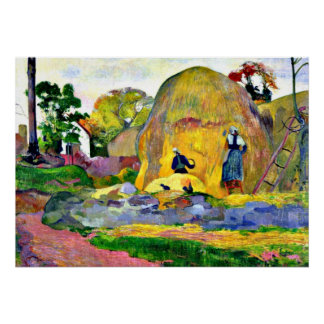 Gauguin - Golden Harvest, Paul Gauguin painting. Poster