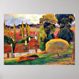 Gauguin: Granja en Bretaña Póster