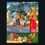 "Gauguin Ia Orana Maria Photo Print<br><div class=""desc"">Paul Gauguin Ia Orana Maria photo print. Oil painting on canvas from 1891. Gauguin is renowned for his famous paintings of Tahiti. Ia Orana Maria (We Hail Thee Mary) is a colorful Madonna work from the artist's first Tahitian period. Mary is depicted as a Tahitian woman wearing a red sarong...</div>"