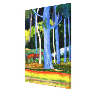 Gauguin - Landscape with Blue Tree Trunks Canvas Print
