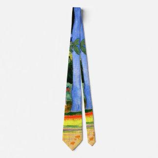 Gauguin - Landscape with Blue Tree Trunks Neck Tie