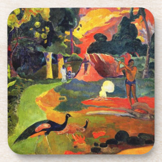Gauguin Landscape with Peacocks Coasters