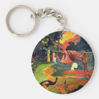 Gauguin Landscape with Peacocks Key Chain