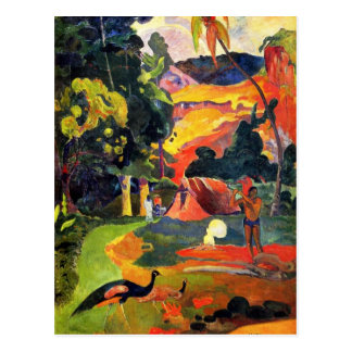 Gauguin Landscape with Peacocks Postcard