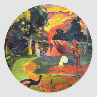 Gauguin Landscape with Peacocks Stickers