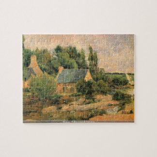 Gauguin - lavanderas en el rompecabezas de Pont-Av