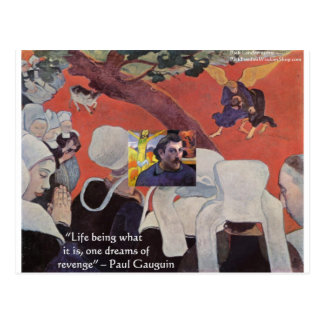 """Gauguin """"Life/Wisdom"""" Quote Gifts & Tees Postcard"""