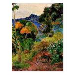 Gauguin - Martinique Landscape Postcard