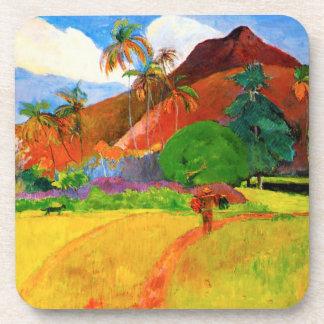 Gauguin Mountains in Tahiti Coasters