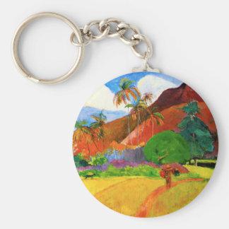 Gauguin Mountains in Tahiti Key Chain