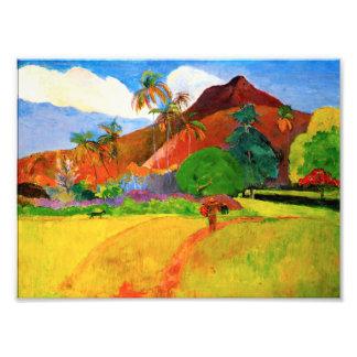 Gauguin Mountains in Tahiti Photo Print