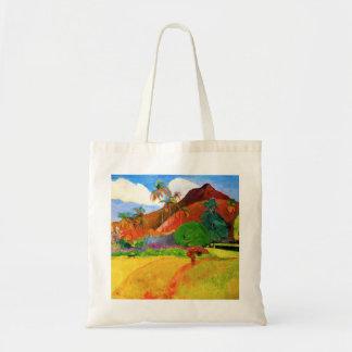 Gauguin Mountains in Tahiti Tote Bag
