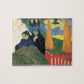 Gauguin - Old Maids in a Winter Garden - Arles Jigsaw Puzzle