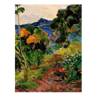 Gauguin - paisaje de Martinica Postal