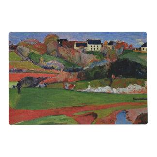 Gauguin - paisaje en Le Pouldu Tapete Individual