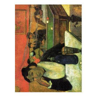 Gauguin, Paul Im Caf? (Portr?t der Mme Ginoux) 188 Postcard