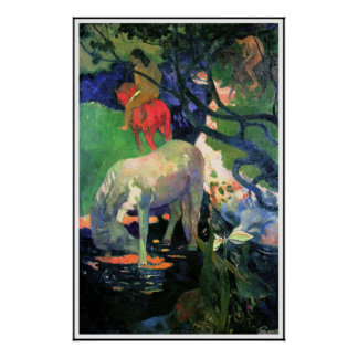 Gauguin Poster Print The White Horse