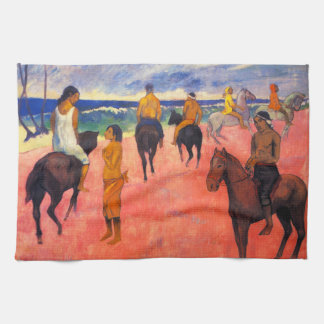 Gauguin Riders on the Beach Kitchen Towels