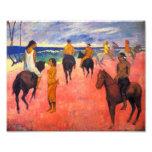 Gauguin Riders on the Beach Print