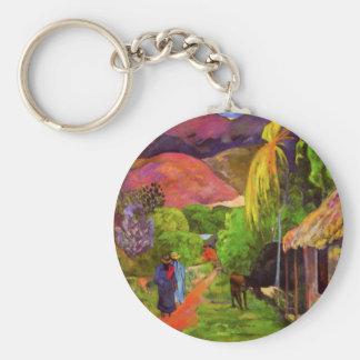Gauguin Road in Tahiti Key Chain
