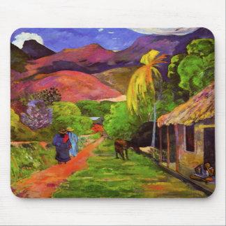 Gauguin Road in Tahiti Mouse Pad