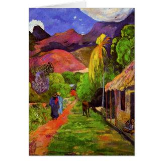 Gauguin Road in Tahiti Note Card