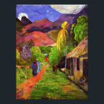 "Gauguin Road in Tahiti Photo Print<br><div class=""desc"">Paul Gauguin Road in Tahiti photo print. Oil painting on canvas from 1891. Gauguin is an artist renowned for his paintings of Tahiti. Road in Tahiti is fine example of the artist's vibrant vision of the tropical island. Two women walk down a red dirt road as a horse grazes on...</div>"