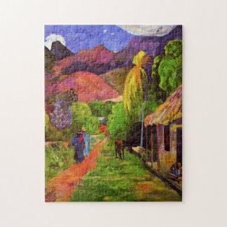 Gauguin Road in Tahiti Puzzle