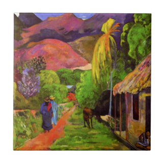 Gauguin Road in Tahiti Tile