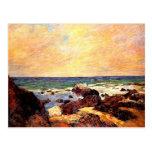Gauguin - Rocks and Sea, 1886, painting Postcard