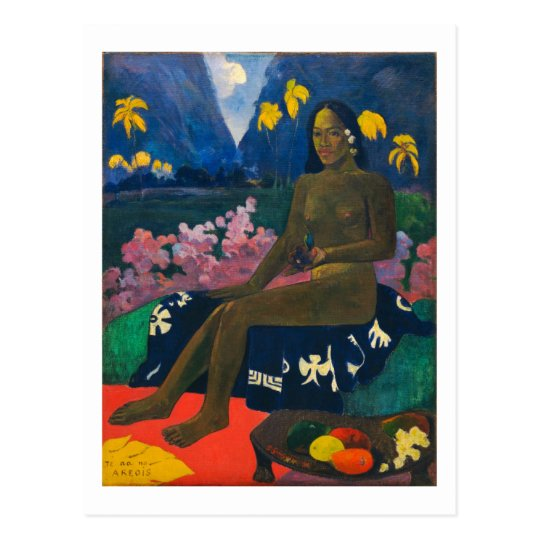 Gauguin Seed of the Areoi Postcard