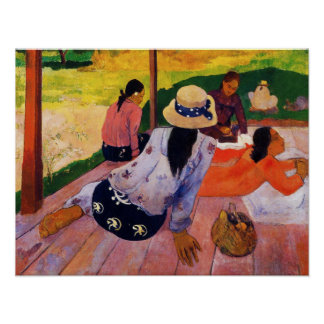 Gauguin Siesta Poster