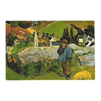 Gauguin - Swineherd, Bretaña Tapete Individual