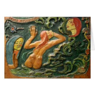 Gauguin: Tahiti Carving Card