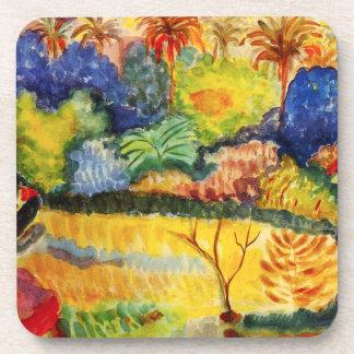 Gauguin Tahitian Landscape Coasters