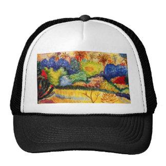 Gauguin Tahitian Landscape Hat