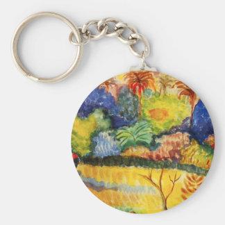 Gauguin Tahitian Landscape Key Chain