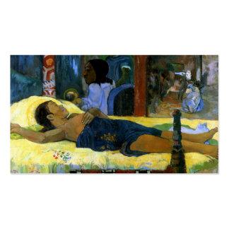 Gauguin Te Tamari No Atua (Nativity) Tahiti art Double-Sided Standard Business Cards (Pack Of 100)